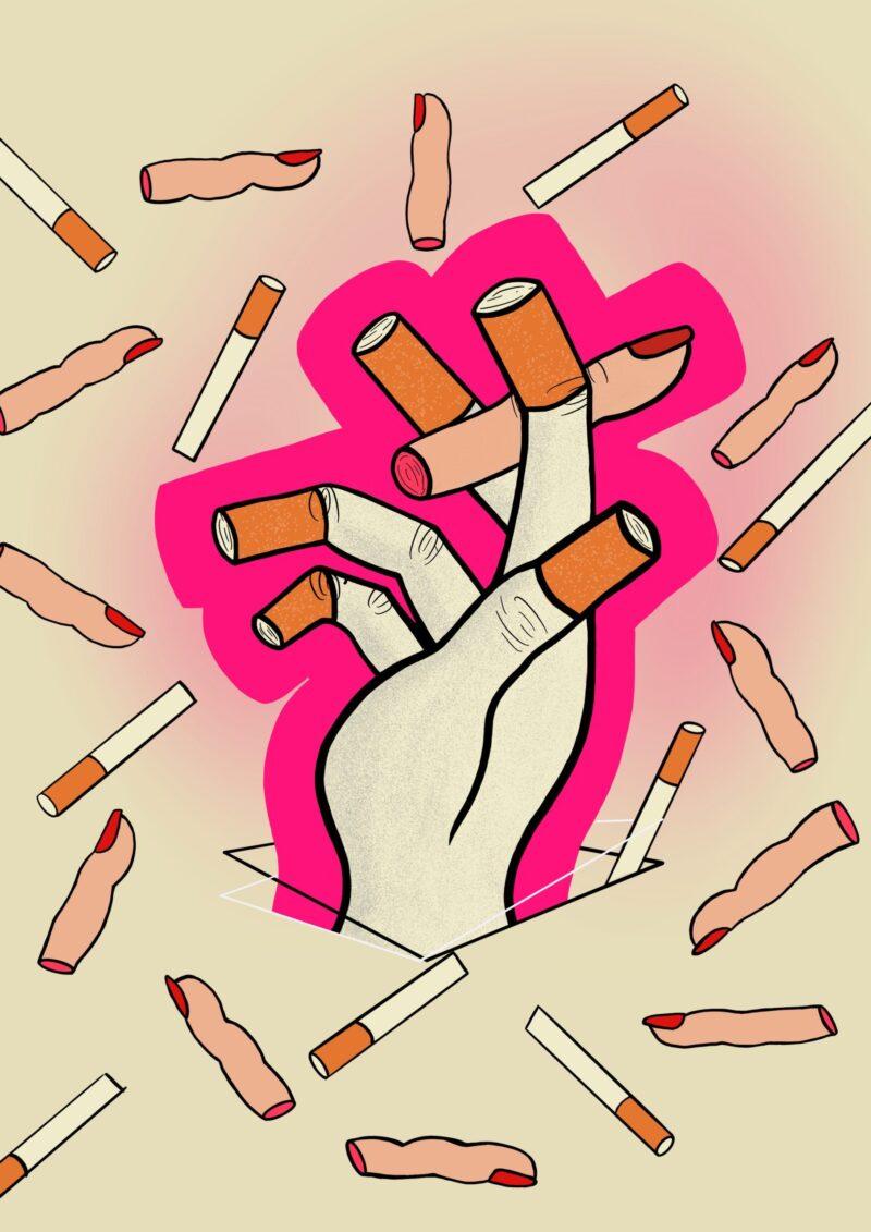 poster hand sigaretten