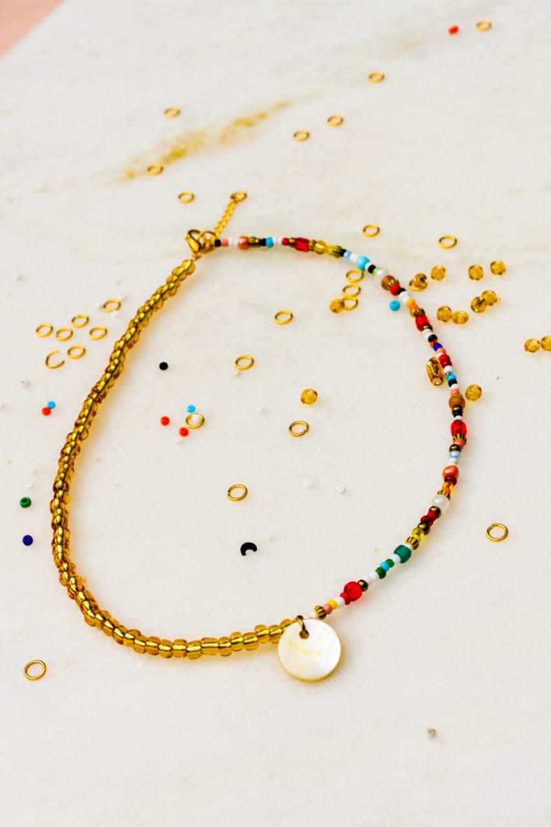 beads kralen ketting goud parelmoer