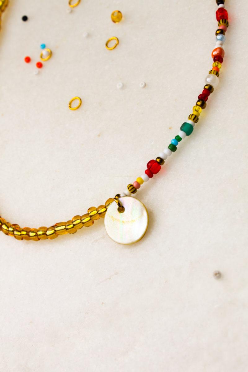kralen beads kleur goud parelmoer