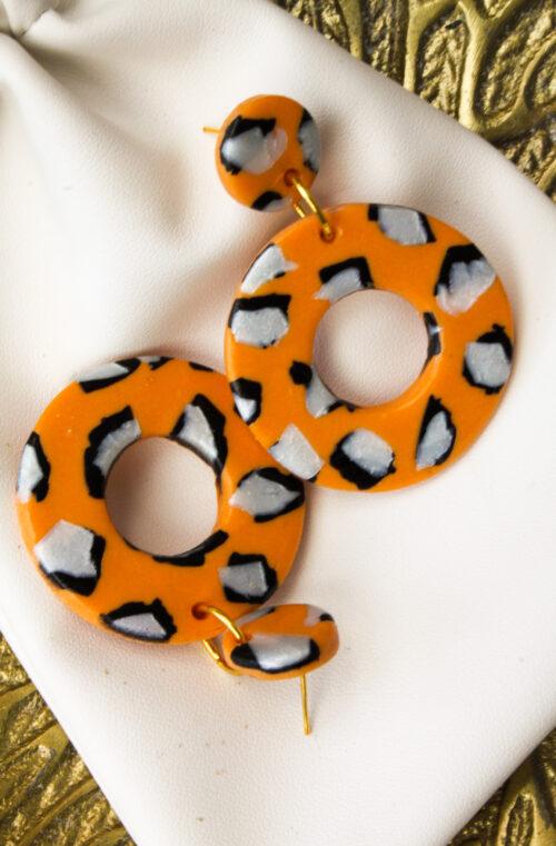 tijgerprint panter oranje zwart wit