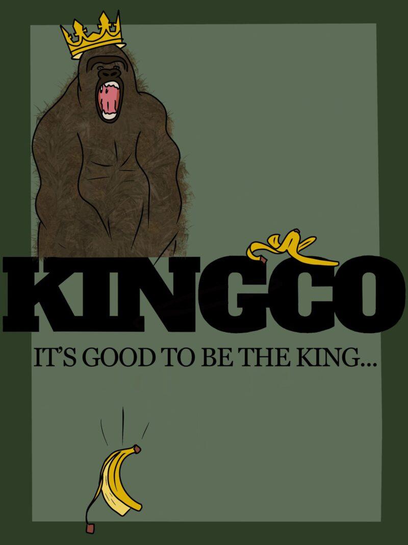 aap kingco banaan groen poster