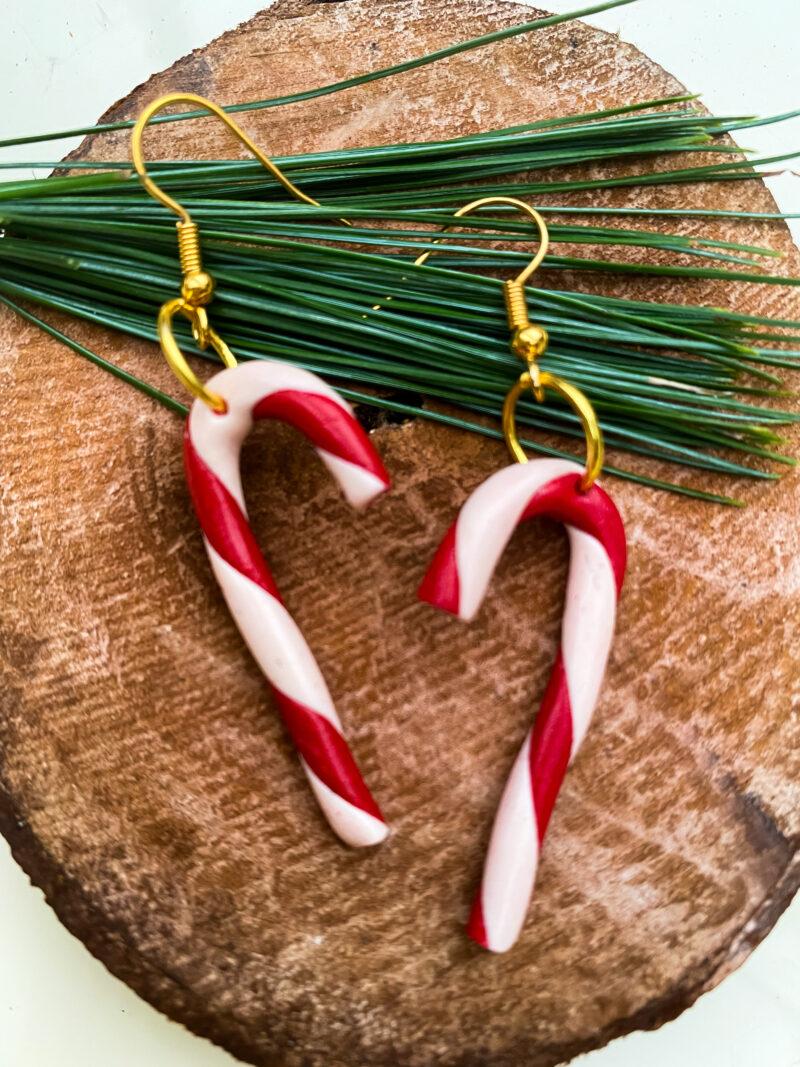 christmas cane gold