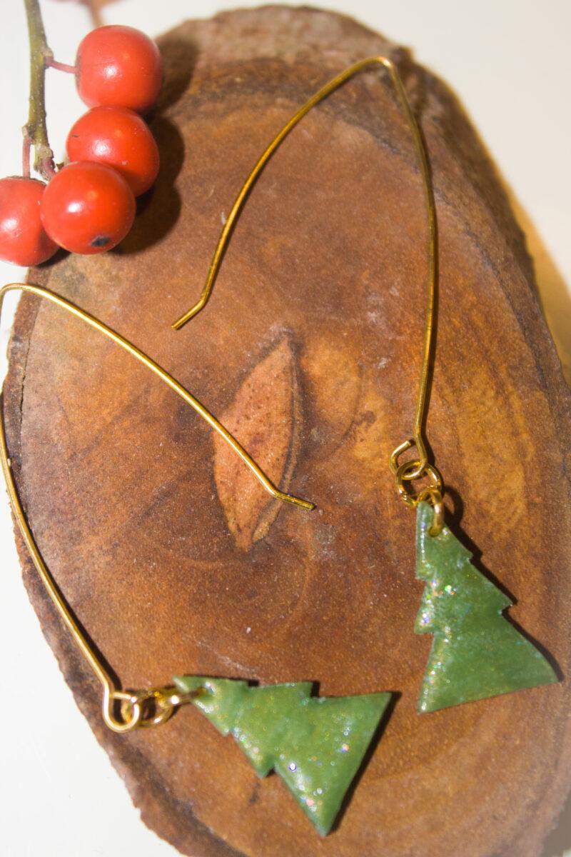 kerstboom christmas gold green glitter