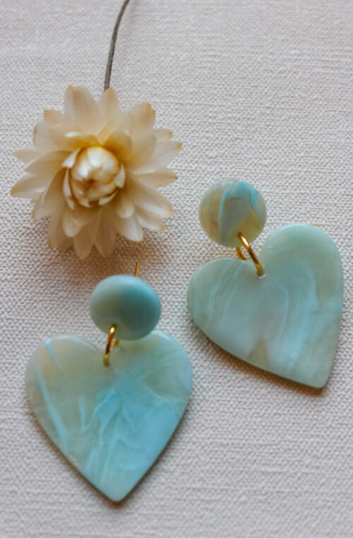 Valentines heart blue transparent gold love