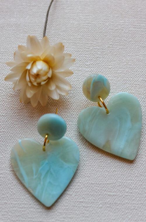 Valentines heart blue transparent gold love