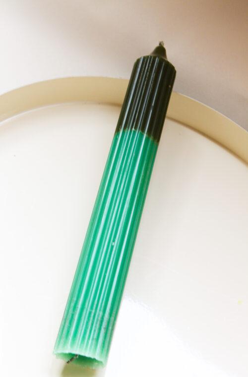 kaars geribbeld groen