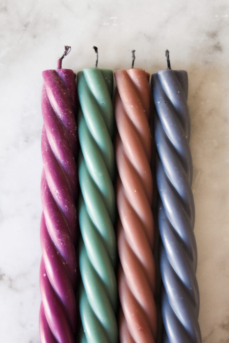 twisted candle 4-pack