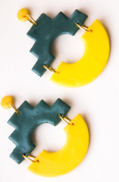 groen petrol geel goud