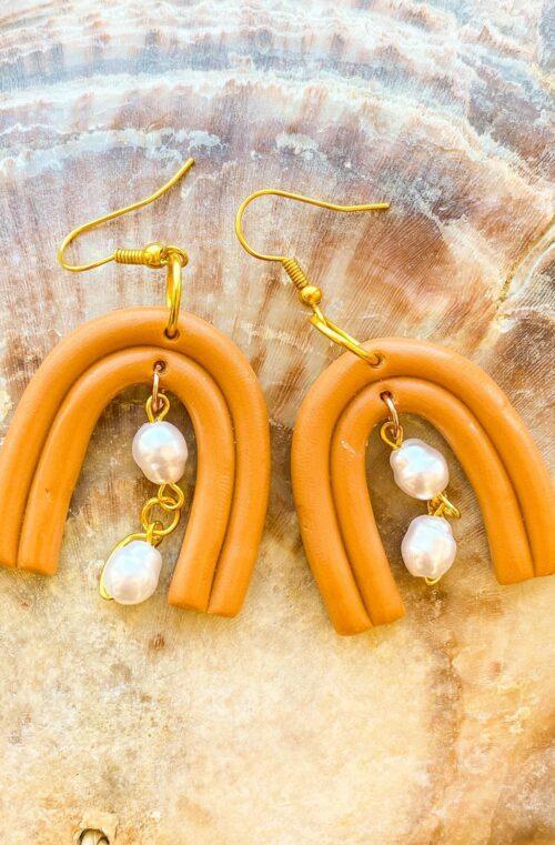 oorbellen goud parels